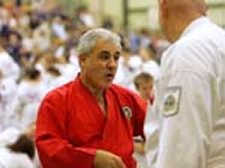 Sensei Gino Teaching on the Mat