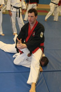 Sensei Graham Sargeant demonstrating a Ju Jitsu Technique