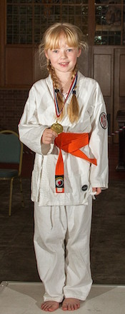 Ruby Freeman won the Gold Medal for Junior Kata