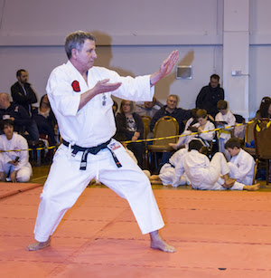 Sensei Wayne Williams Performing Kata