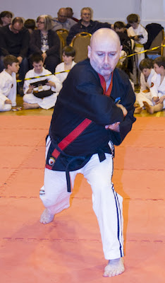 Sensei Peter McCarney Performing Kata in Competition