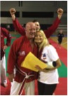 Hanshi Brian Herbert Receives 9th Dan Grade at Euro Budo Random Attacks Italy 2016 with wife Lyn