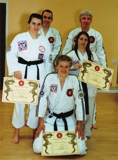 5 Black Belts Pass Grading