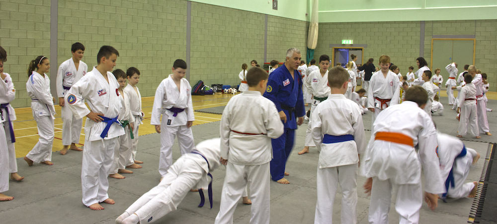 Sensei Grant Wakeman Teaching on the Juniors Mat