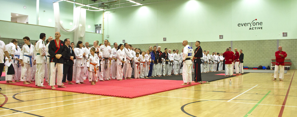 Students Line Up at the Start of the 2013 Jikishin Ju Jitsu National Championships