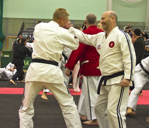 Sensei Peter McCarney at the Jikishin Ju Jitsu National Coursde & Championships 2013